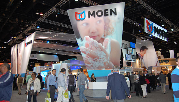 2012 Kitchen and Bath Industry Show Moen Booth