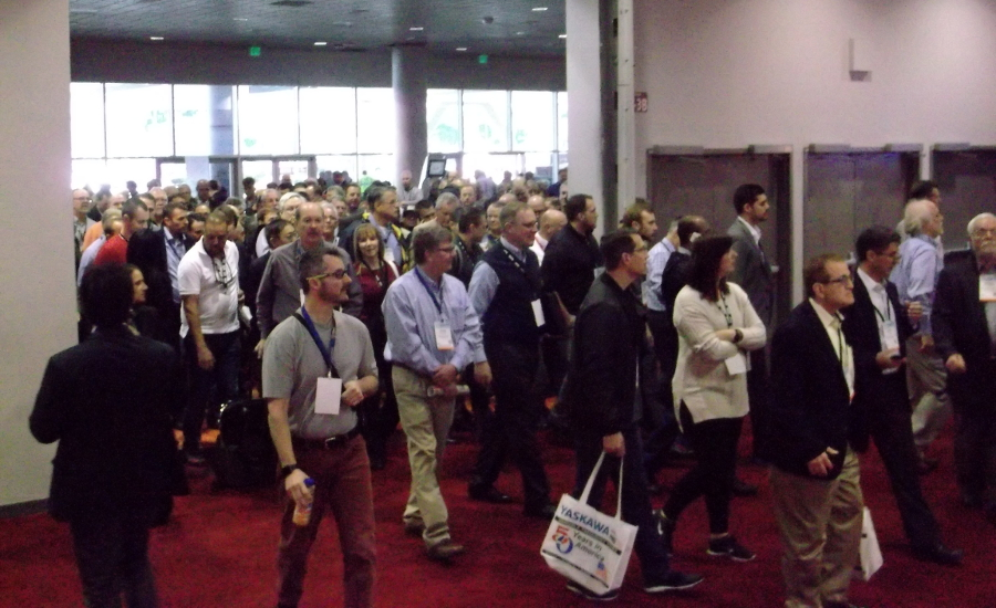 The doors open on the second day of the AHR Expo. Organizers said the 2017 event was the biggest ever