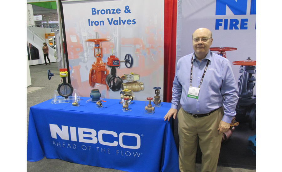 NIBCO's Don Marlow with the company's iron