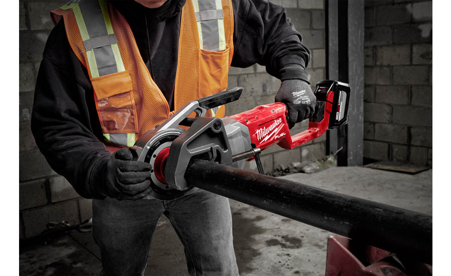 Cordless pipe threader