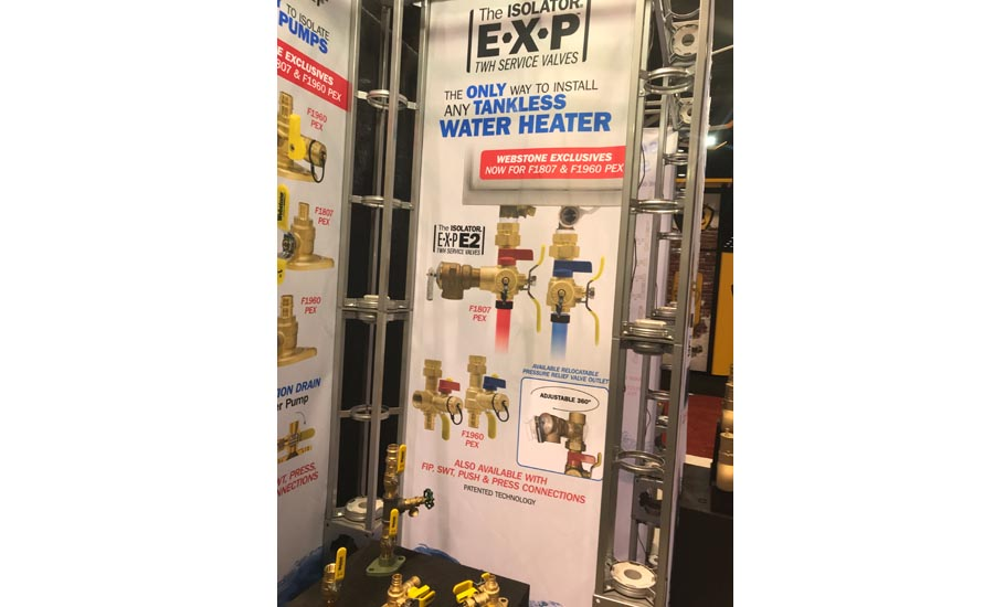 Webstone's The Isolator E.X.P. E2 service valves are for use in the installation of any tankless water heater