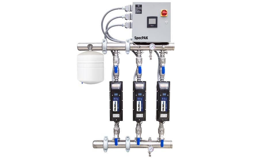 The Franklin Electric Inline 1100 SpecPAK pressure-boosting system