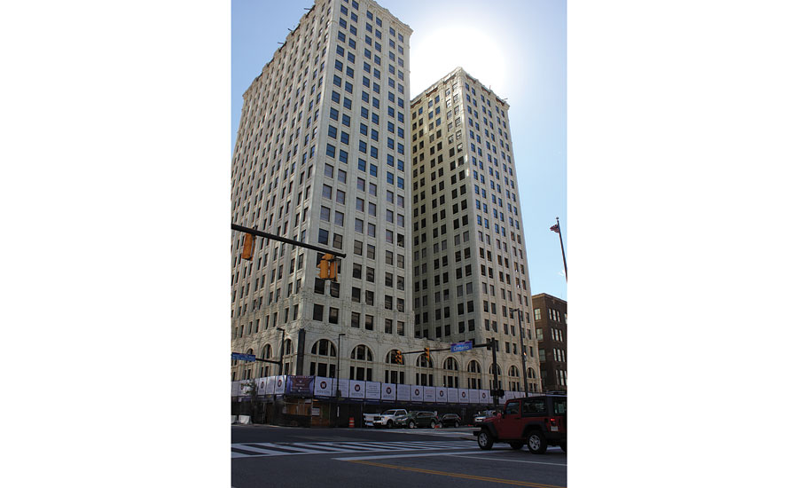 BWA South was able to get a variety of its products into The Standard Building in Cleveland