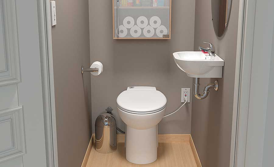 Compact macerating toilet from Saniflo