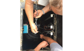 Installation of a duplex sewage grinder pump