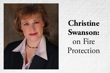 Christine Swanson on Fire Protection