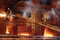 firefighters, building fire