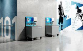 Sloan Valve mobile handwashing stations
