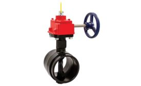 Milwaukee Valve grooved end butterfly valves