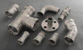 Viega carbon steel press fitting