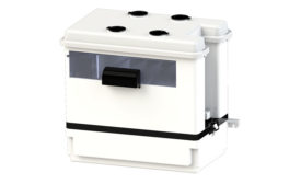 Condensate pump with built-in acid neutralizer from Saniflo