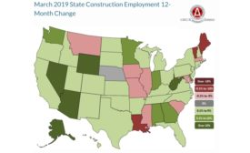 March 2019 State Construction Employment 12-Month Change