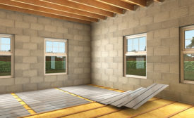 When installing underfloor heating