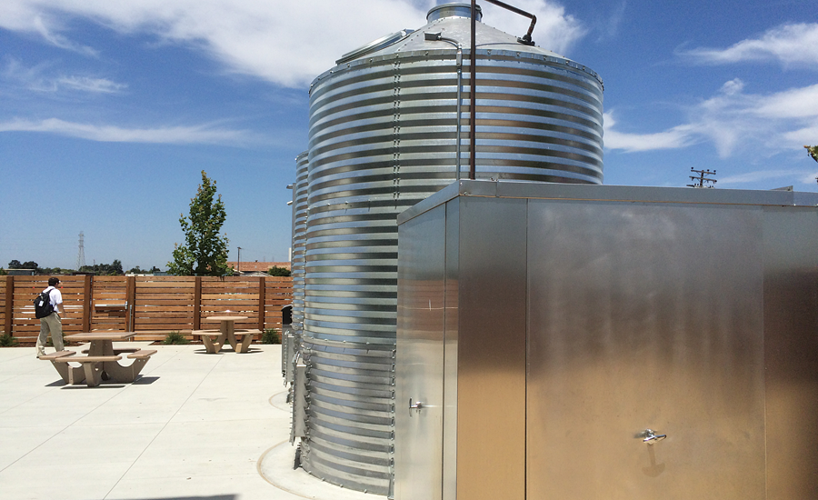 Above-ground storage tanks and a rainwater control station