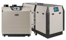 Commercial condensing gas boiler from Weil-McLain