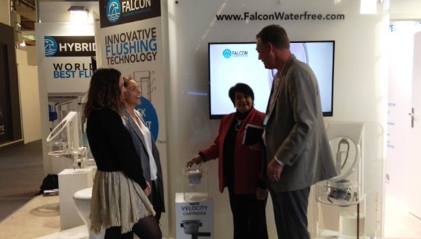 Andrea Chase (left) and Simon Davis of Falcon Waterfree Technologies
