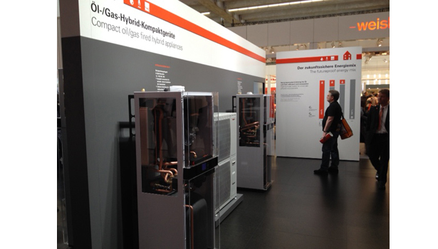 Viessmann displays hybrid heating equipment