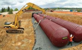Fiberglass underground tanks