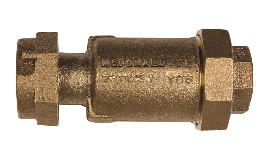 Inline dual check valve from A.Y. McDonald