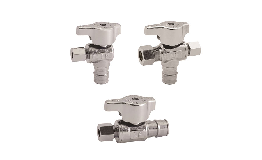 Chrome stop valve from Legend Valve