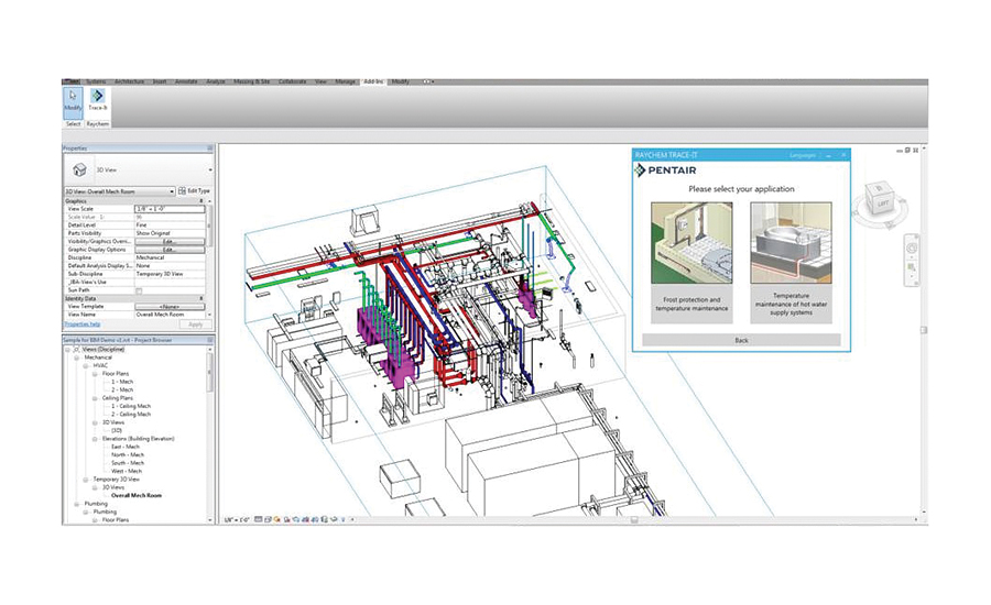 Bim For Heat Tracing System From Pentair 2016 08 22 Pm