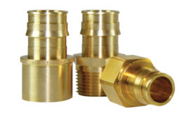 ProPEX brass transition fittings from Uponor