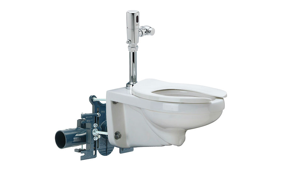 High-efficiency toilet and carrier system from Zurn