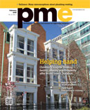 pme February 2016 cover: Helping hand; Children's hospital housing facility running at full capacity after water heater donation
