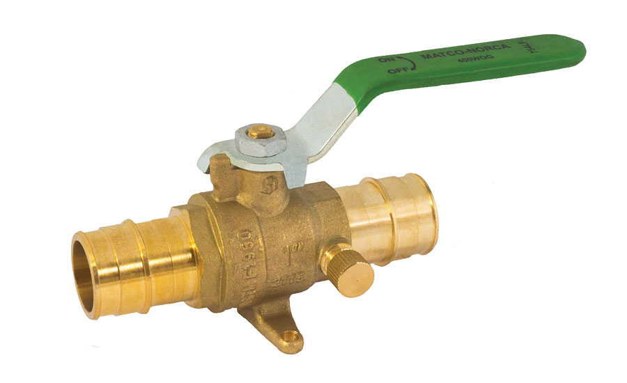 Lead-free cold-expansion PEX ball valve from Matco-Norca