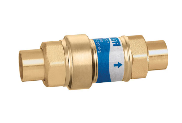 Compact automatic flow-balancing valves from Caleffi
