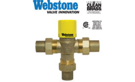Thermostatic mixing valve from Webstone Valve