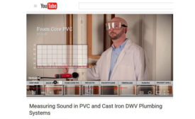 A new video on Charlotte Pipe's YouTube channel shows a sound test of various DWV plumbing systems.