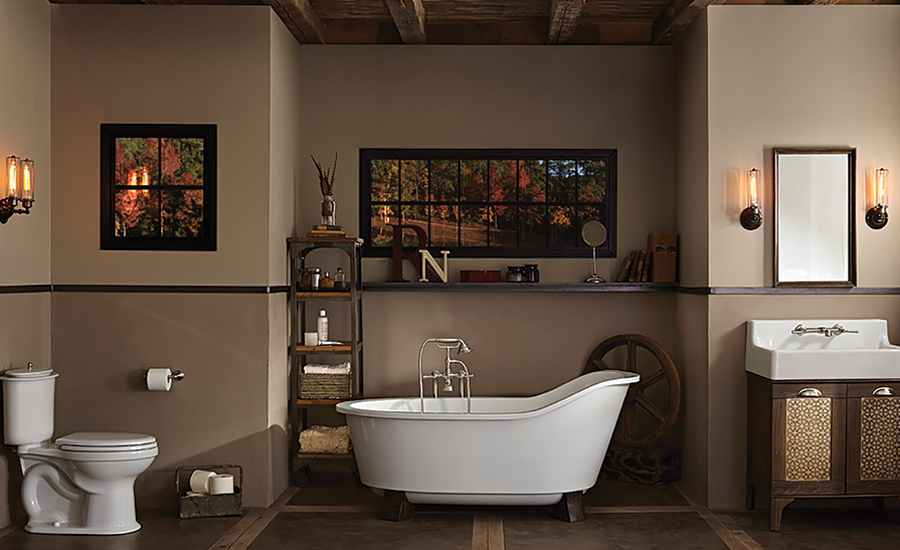 Suite of bath fixtures from American Standard
