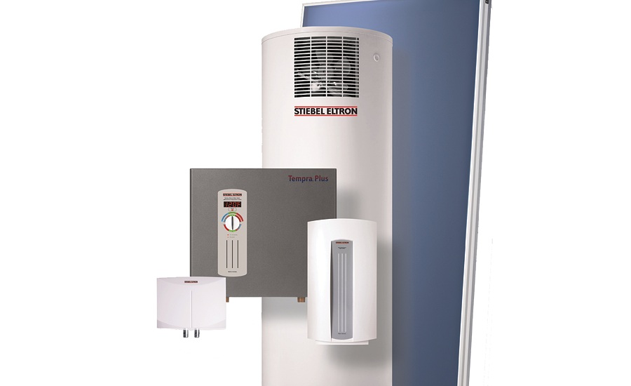 Electric tankless water heater for solar backup from Stiebel Eltron