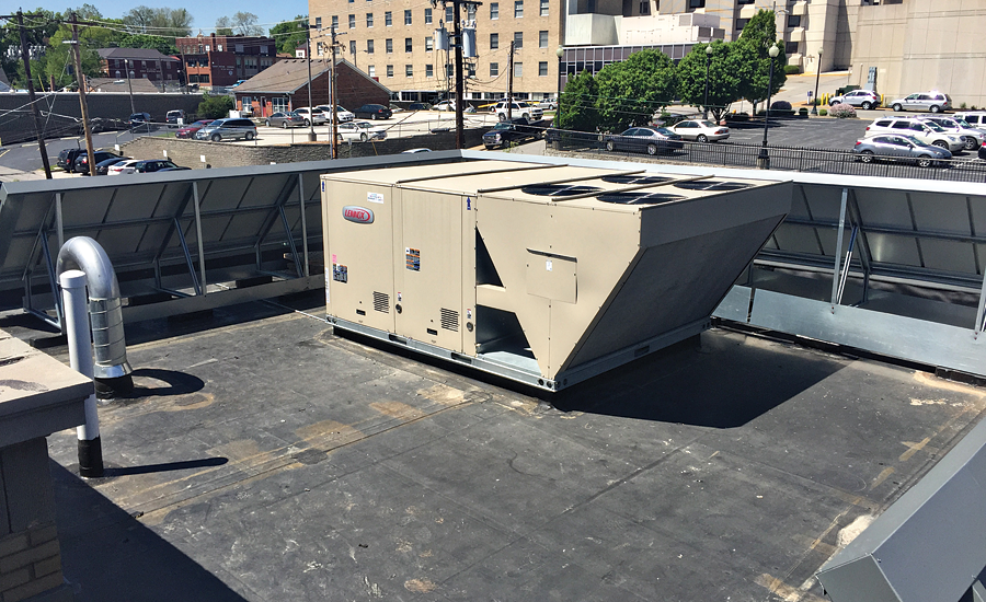 The Lennox rooftop HVAC unit