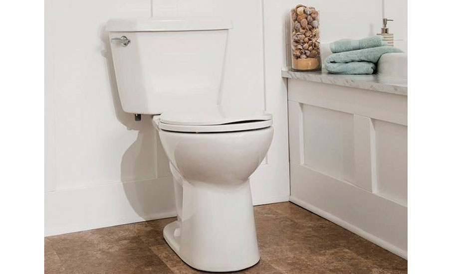 Power-flush toilet from Mansfield Plumbing