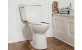 Power-flush toilet from Mansfield Plumbing