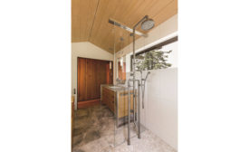 Exposed shower system from Sonoma Forge