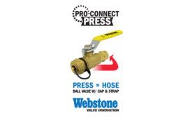 Press x hose ball valves from Webstone Valves