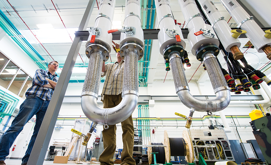Piping of the Energy System Integration Facility; hydronic systems, hydronic cooling, LEED, energy efficient