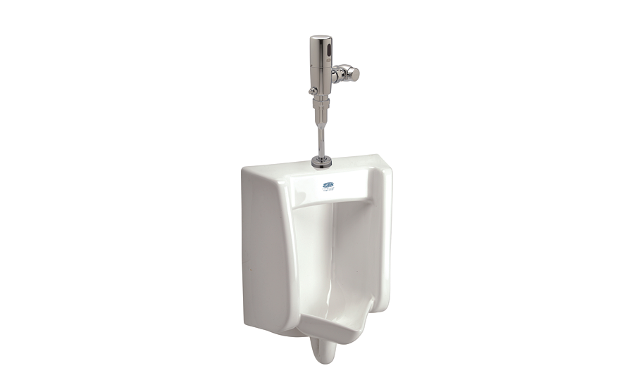 Reduced splashback urinal from Zurn