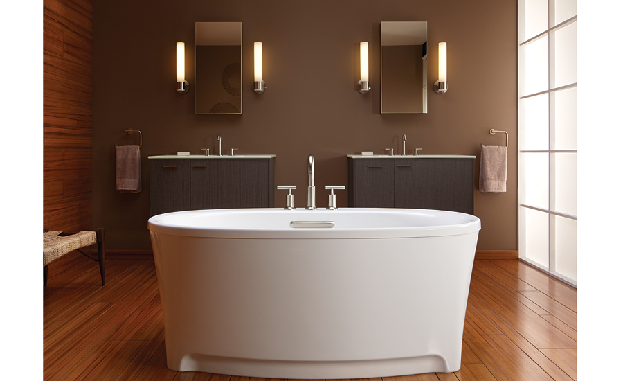 Hydrotherapy freestanding tub from Kohler