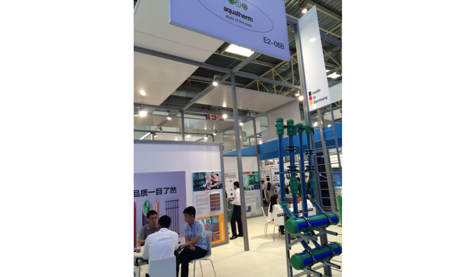 Aquatherm displays its piping systems at ISH China/CIHE