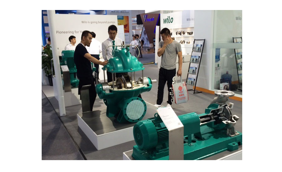 WILO displays its large pumps at ISH China/CIHE in Beijing