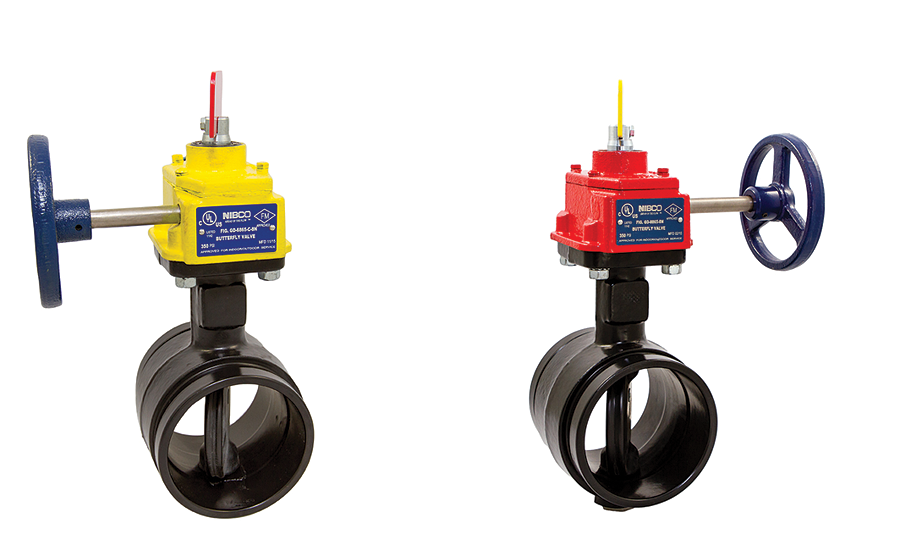 Grooved butterfly valve from NIBCO