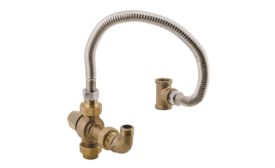 Mixing valve extends hot water tank capacity
