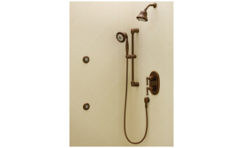 Shower valves with diverter