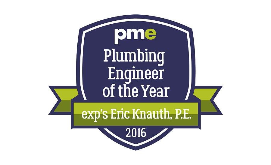 Congratulations to our 2016 Plumbing Engineer of the Year recipient, exp's Eric Knauth, P.E.