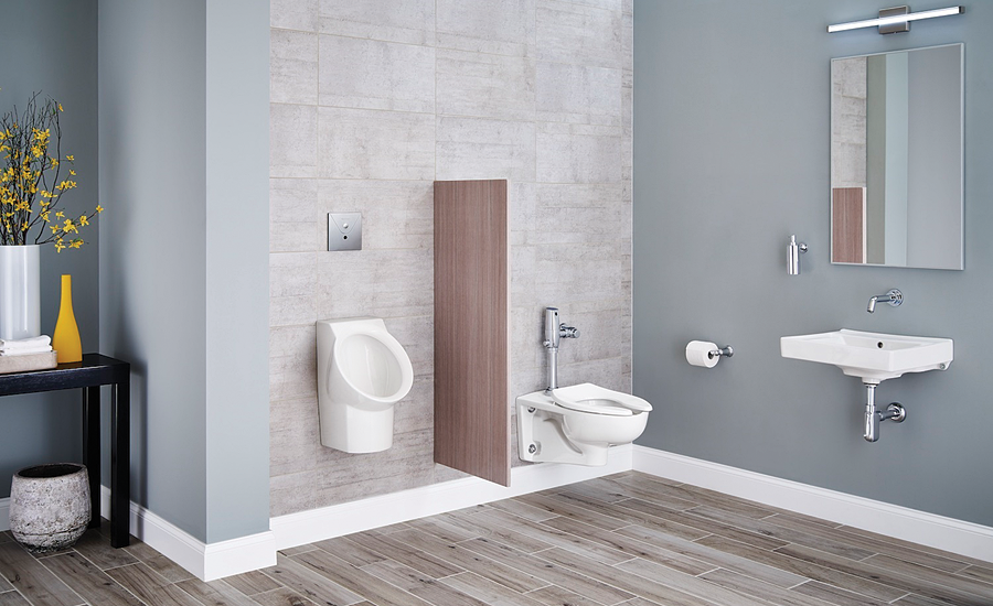 Contemporary styled bathroom fixtures from American Standard