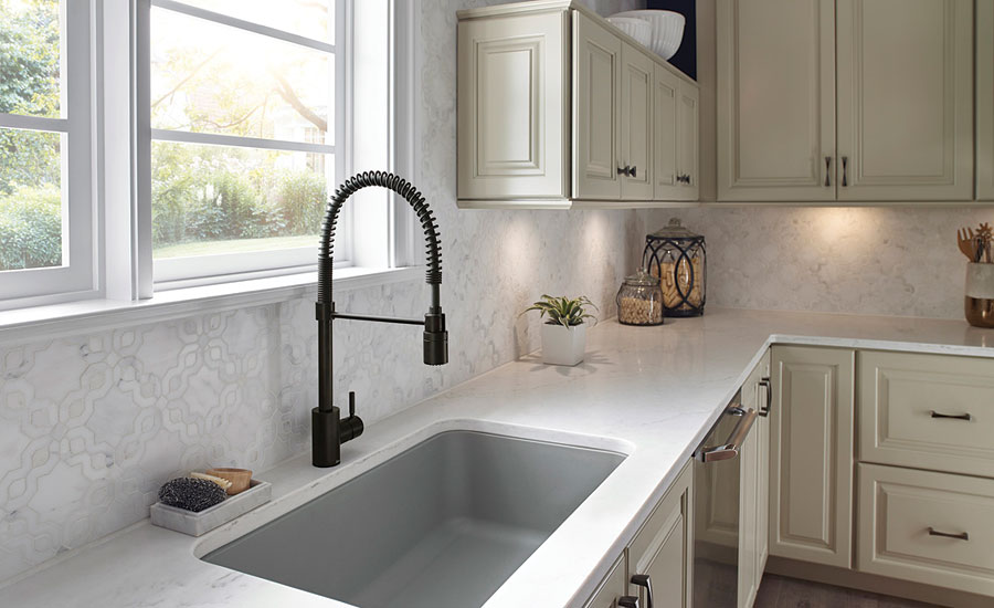 Pre-rinse kitchen faucet from Danze
